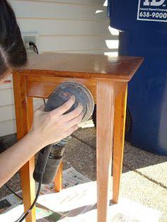 theblessedlife: DIY--distressed furniture