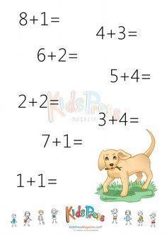 Addition Facts Worksheet: Add to 10 – #2  #beginner #math #addition #sum #to #ten