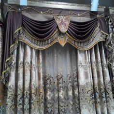 Curtains home application embroidery lace curtain luxury blinds finished curtain tulle cortinas cortinas para sala bead curtains