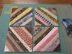 A neat method to join quilt as you go blocks! The possibilities are endless with thousands of fabrics to choose from at the Fabric Shack at http://www.fabricshack.com/cgi-bin/Store/store.cgi Repinned: Quilt as you go tutorial