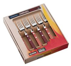 Tramontina 29899/166 Forks Set - Red/Jumbo (6-Piece) ** For more information, visit image link. (This is an affiliate link)