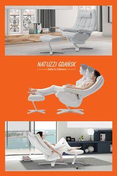 Fotel Re-vive Quilted Natuzzi Italia emanuje wizualnym poczuciem miękkości podkreślonym przez wyrafinowaną ozdobną lamówkę.     #armchairs #fotele #interior #design Outdoor Furniture, Outdoor Decor, Sun Lounger, Armchair, Chairs, Home Decor, Italia, Chaise Longue, Womb Chair