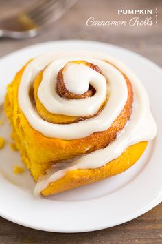 Pumpkin Cinnamon Rolls with Cream Cheese Icing