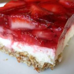 Strawberry Pretzel Dessert Recipe | Just A Pinch Recipes