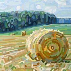 Contemporary abstract landscape painting art by Mandy Budan - Early Hay Abstract Landscape Painting, Landscape Paintings, Abstract Art, Painting Art, Canadian Painters, Artist Portfolio, Nature Paintings, Art Plastique, Art Reproductions