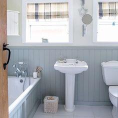 Ideas For Classic Bathroom Design Small White Tiles Bathroom Wall Panels, Bathroom Cladding, Wood Bathroom, Bathroom Interior, Bathroom Ideas, Family Bathroom, White Bathroom, Downstairs Bathroom, Bathroom Faucets