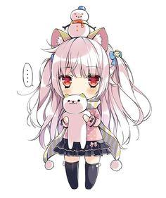 grafika anime, kawaii, and neko