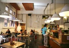 Manchester Press | Melbourne CBD | Cafe with bagels and coffee