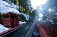 Termas Geometricas hot springs, Chile. Architect: German del Sol