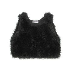 Faux Fur Tank Top (27.135 CLP) ❤ liked on Polyvore featuring tops, crop tops, shirts, t-shirts, black crop tank top, black singlet, shirts & tops, black shirt and peacock shirt