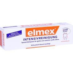 ELMEX Intensivreinigung Spezial Zahnpasta:   Packungsinhalt: 50 ml Zahnpasta PZN: 08794198 Hersteller: CP GABA GmbH Preis: 5,29 EUR inkl.…