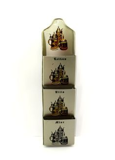 Beer Stein Metal Letter Organiser - Wall Hanging Mail Holder - Letters Bills Misc - 33% off Birthday Sale on Etsy, $20.80