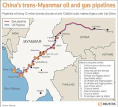China's trans-Myanmar Oil and Gas Pipelines - From shwe.org