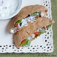 Grilled Chicken Pita with Cucumber Yogurt Dressing by mysanfranciscokitchen #Pita #Chicken #mysanfranciscokitchen