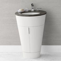 Ronbow 034723 Leonie 23 in. Single Oval Bathroom Vanity - Bathroom Vanities at Hayneedle
