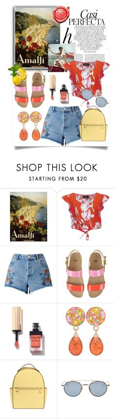 """""""Ciao Sorrento!"""" by felicia-mcdonnell ❤ liked on Polyvore featuring Whiteley, MINKPINK, Miss Selfridge, Fendi, Margot McKinney, Henri Bendel and Thom Browne"""