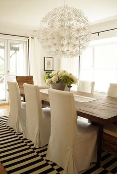 A dining room design that shows just how good IKEA pieces can really look.