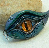 Dragon's Eye Pendant...BLUE by DesertRubble