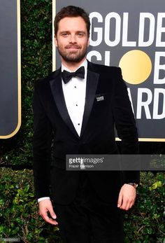 Sebastian Stan | 75th Golden Globes 2018 Golden Globe Award, Golden Globes, Toby Hemingway, Hottest Male Celebrities, Black Tie Affair, Meme Lord, My Soulmate, Bucky Barnes, Robert Downey Jr