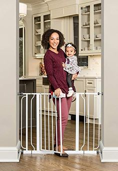 Regalo Easy Step 38.5-inch Extra Wide Baby Gate Bonus Kit Includes 6-inch Kit,