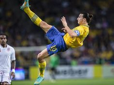 Zlatan Ibrahimovic...the man knows how to do a bicycle kick