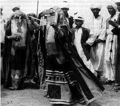 Rashaida woman dancing, Saudi Arabia c.1920   by Tribes of the World