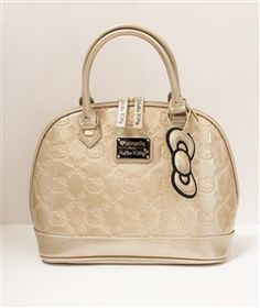 Loungefly Hello Kitty Gold Glitter Patent Embossed Tote Bag fc50d0b4fc580