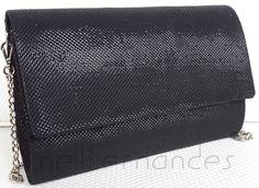 Carteira nellfernandes - tecido metálico preto - VENDIDA