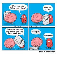 The Awkward Yeti comics Haha tongue. The Awkward Yeti comics Funny Cartoons, Funny Comics, Funny Jokes, Hilarious, It's Funny, Funny Laugh, Stupid Funny, Akward Yeti, The Awkward Yeti