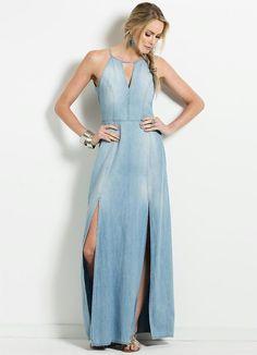 7 Denim Fashion, Boho Fashion, Fashion Outfits, Demin Dress, Ankara Gown Styles, Recycled Denim, Simple Dresses, Dress Collection, Designer Dresses
