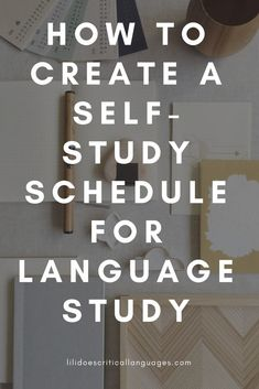 If you're studying a language on your own, it can be frustrating to make a study schedule that works for you and to stick to it! So I've made it easier for you! Here's how to make a self-study schedule to suit your language learning needs. Learn German, Learn French, Learn English, How To Study English, How To Study Japanese, Learning Languages Tips, Learning Apps, Learn Languages, Language Study