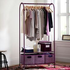 Is it possible for a girl to have too much closet space?  Even though those dorm rooms are tiny, this conventional storage space is essential!  If you can fit it in, then do so!