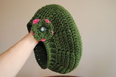 Childs Slouch Hat with Ribbed Edge- FREE pattern on www.cre8tioncrochet.com