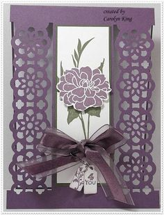 birthday card - lace ribbon punch
