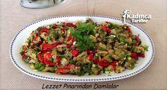 Közlenmiş Patlıcan ve Biber Salatası Tarifi | Kadınca Tarifler | Kolay ve Nefis Yemek Tarifleri Sitesi - Oktay Usta