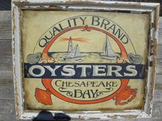 original # Oyster  Sign sign by ZekesAntiquesigns