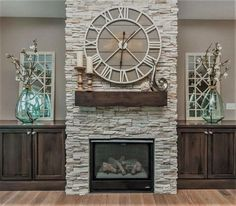 35 Awesome Farmhouse Fireplace Design Ideas To Beautify Your Living Room. Awesome Farmhouse Fireplace Design Ideas To Beautify Your Living Room Chimney presumably has a place with one of vital things to set in any house insides. Farmhouse Fireplace, Home Fireplace, Fireplace Remodel, Living Room With Fireplace, Fireplace Design, Fireplace Ideas, Above Fireplace Decor, Fireplace Stone, Simple Fireplace