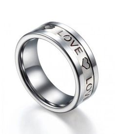 #tungstenrepublic.com     #love                     #Carbon #Fiber #Inlay #Tungsten #Ring #with #Love #Characters                 Red Carbon Fiber Inlay Tungsten Ring with Love Characters                                               http://www.seapai.com/product.aspx?PID=1093022