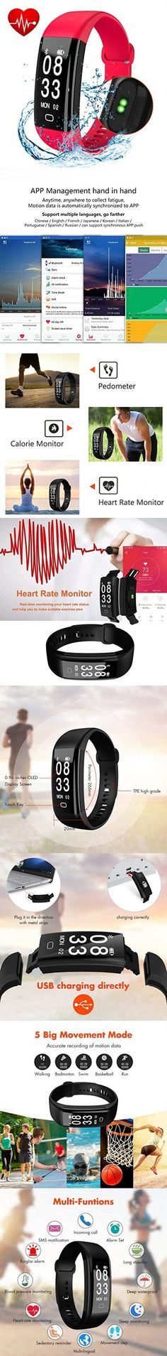 Fitness Tracker, Cafar Fitness Watch, Waterproof Activity Tracker With Heart Rate Monitor, Sleep Monitor, Waterproof Smart Bracelet Pedometer Wristband for Android and IOS #fitnesstracker,