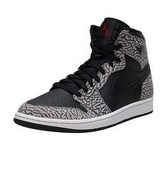 JORDAN+Retro+1+High+sneaker+Men's+high+top+shoe+Lace+up+closure+Signature+affiliate+NIKE+swoosh+on+sides+Padded+tongue+with+logoTextured+elephant+print+upper+Cushioned+inner+sole