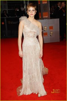Emma Watson in Valentino at the British Academy Film Awards 2011.
