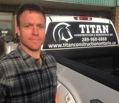 Ronnie Fisher operates Titan Construction & Renovation Inc. with partner Mark Geroux serving the Niagara Region. Niagara Region, Fisher, Construction, Business, Building