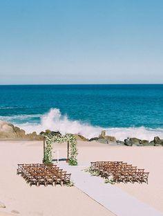 This Beach Wedding in Los Cabos, Mexico, Incorporated Tons of Local Details #Cabo #CaboSanLucas #LosCabos #destinationwedding #CaboWedding #weddingblog #weddingblogger #weddingtravel #weddinginspo #weddinginspiration #destinationweddingplanning #weddingplanning #destinationweddings #caboweddings #mexicoweddings Wedding Ceremony Decorations, Wedding Ceremonies, Wedding Venues, Punta Cana Wedding, Beach Bonfire, Destination Wedding Locations, Couple Beach, Destin Beach, Mexico Travel