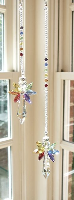 Rainbow Angel Swarovski Crystal Suncatcher von HeartstringsByMorgan