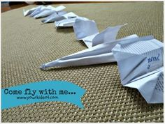 Come Fly with Me! – Paper Airplanes for OT - pinned by @PediaStaff – Please Visit ht.ly/63sNtfor all our pediatric therapy pins