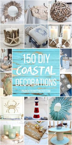 Add a beach vibe to your home with these coastal DIY home decor ideas. From seashell wall art to DIY sea glass, there are plenty of beach house decor ideas to choose from. There are DIY coastal decorations for your living room, bedroom, bathroom, dining room, porch and much more.