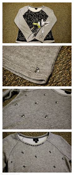 DIY: Embellished Sweatshirt
