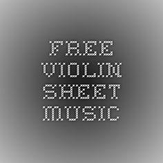 Free Violin Sheet Music