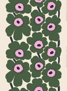 Marimekko was set up for women and by women in and the bold, stylish, pattern-happy prints produced by the storied Finnish design house have been worn and Marimekko Wallpaper, Marimekko Fabric, Textile Patterns, Flower Patterns, Print Patterns, Motif Floral, Floral Design, Pattern Art, Pattern Design