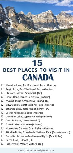 Top 10 Tourist Attraction To Visit in Canada – Trending Pins Top Travel Destinations, Best Places To Travel, Cool Places To Visit, Backpacking Canada, Canada Travel, Yoho National Park, National Parks, Newfoundland Island, Viajes